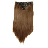 Com Presilha Sintético Extensões de cabelo 180 Alongamento