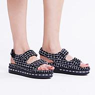 Feminino-Sandálias-Conforto Inovador Light Up Shoes-RasteiroCouro Ecológico-Ar-Livre Casual Para Esporte