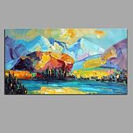Håndmalte Landskap Horisontal,Moderne Europeisk Stil Et Panel Lerret Hang malte oljemaleri For Hjem Dekor