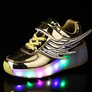 Tenisky-PU-Light Up boty Pohodlné Novinky-Chlapecké-Zlatá Černá Stříbrná Růžová-Outdoor Atletika Běžné-Plochá podrážka