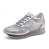 נשים-נעלי ספורט-דמוי עור בד-נוחות חדשני סוליות מוארות--חתונה שטח משרד ועבודה מסיבה וערב שמלה יומיומי ספורט-עקב וודג'