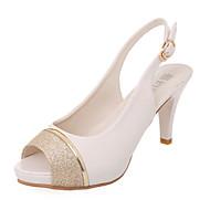 Femme-Mariage Extérieure Bureau & Travail Habillé Soirée & Evénement-Noir Beige-Talon Aiguille-Nouveauté club de Chaussures-Sandales-