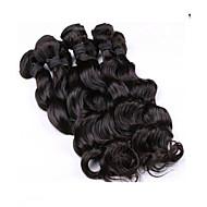 New Arrival 6Pcs/Lot 8-26inch Malaysia Virgin Loose Wavy Hair Natural Black Wavy Human Hair Bundles.
