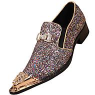 Темно-русый-Для мужчин-Для прогулок Для офиса Повседневный Для вечеринки / ужина-Наппа LeatherФормальная обувь-Туфли на шнуровке