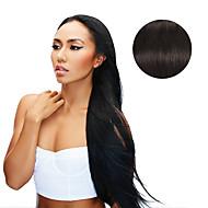 9pcs / set 디럭스 120g # 1b 자연 검은 머리카락 연장에서 검은 클립 16inch 20inch 100 % 인간의 머리카락