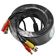 Yanse® 20 meter 66 fod bnc video og strøm 12v dc integreret kabel til overvågning af sikkerhedssystemer