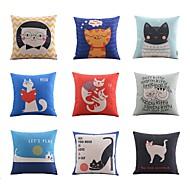 9 pçs Linho Almofada Inovadora Fronha Almofada de Corpo Almofada de Vigem almofada do sofá,Estampado Animal Férias Estampas Abstratas