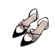 נשים-נעליים ללא שרוכים-עור פטנט-נוחות חדשני רצועה אחורית נעלי בובה (מרי ג'יין) גלדיאטור רצועת קרסול סוליות מוארות נעלי מועדון נעליים
