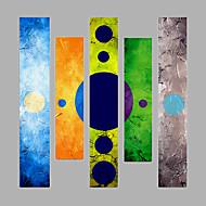 Pintados à mão Pessoas Horizontal,Moderno 5 Painéis Tela Pintura a Óleo For Decoração para casa