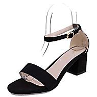 Femme Sandales club de Chaussures Polyuréthane Printemps Eté Habillé Soirée & Evénement club de Chaussures Strass Boucle Gros TalonNoir