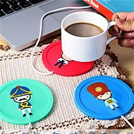 1 stk USB-hub kopp varmere kontor kaffe te krus varmeapparat matte vinter drikke tilfeldig farge
