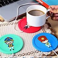 1pcs USB רכזת כוס חם יותר קפה קפה תה ספל מחמם כרית מחצלת החורף לשתות צבע אקראי