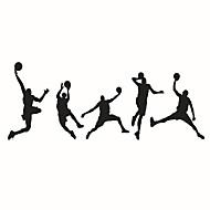 אנימציה ספורט אנשים מדבקות קיר מדבקות קיר מטוס מדבקות קיר דקורטיביות,ויניל חוֹמֶר קישוט הבית מדבקות קיר