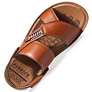 Muške Papuče i japanke Proljeće Ljeto Udobne cipele Svjetleće tenisice Koža Aktivnosti u prirodi Ured i karijera Ležeran Ravna potpetica