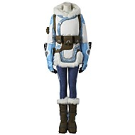 Inspiré par Overwatch Ace Vidéo Jeu Costumes de Cosplay Costumes Cosplay Points Polka Blanc Bleu Manche LonguesManteau Pantalons Casque