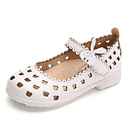 Girls' Sandals Spring Summer Moccasin Hole Shoes PU Party & Evening Dress Casual Flat Heel Magic Tape