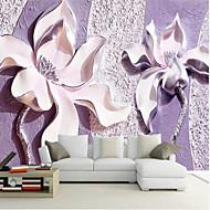 Blomster 3D Tapet til Hjemmet Moderne Tapetsering , Lerret Materiale selvklebende nødvendig Veggmaleri , Tapet