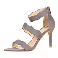 Sandály-Semiš-Pohodlné-Dámské--Šaty-Vysoký