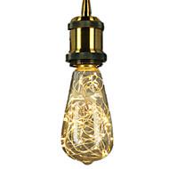 3W E27 Izzószálas LED lámpák ST64 25 Integrált LED 300 lm Meleg fehér Dekoratív AC 220-240 V 1 db.