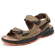 Muške Sandale Udobne cipele Koža Proljeće Ljeto Jesen Kauzalni Formalne prilike Obuća za rijeke Udobne cipele Kava Zelen 2.5 cm - 4.5 cm