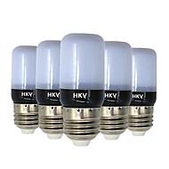 3W E14 E26/E27 Lâmpadas Espiga 20 SMD 5736 200-300 lm Branco Quente Branco Frio AC 220-240 V 5 pçs