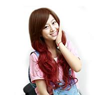 Япония и Южная Корея мода модели длинные волосы коричневый красный цвет большой волны высокой температуры провод парик