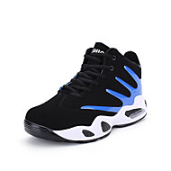 Women's Athletic Shoes Spring Fall Comfort PU Outdoor Flat Heel Flower Black/Blue Black/Red Black/White Running