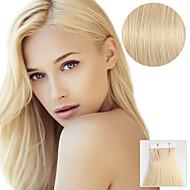 20pcs лента в наращивании волос # 613 пляж блондинка 40g 16inch 20inch 100% человеческий волос для женщин