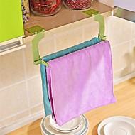 1 stk sømløs lim perforering gratis håndkle rack hengende håndkle kjøkken toalett badehåndkle rack tilfeldig farge