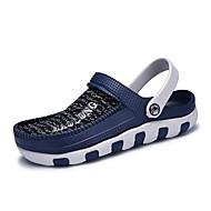 Sandaalit-Tasapohja-Miehet-PU-Harmaa Ruskea Sininen Musta/punainen-Ulkoilu-Hole Kengät