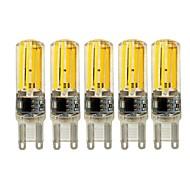 5W E14 G9 G4 LED svjetla s dvije iglice T 4 COB 450 lm Toplo bijelo Bijela Može se prigušiti AC 220-240 V 5 kom.