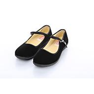 Dame Flate sko Komfort Mary Jane Tekstil Vår Høst Kontor og arbeid Fritid Sport Spenne Flat hæl Svart Flat