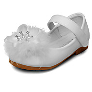 Fille Ballerines Similicuir Printemps Automne Imitation Perle Scotch Magique Talon Bas Blanc Rose Plat