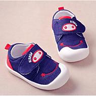 女の子 フラット 赤ちゃん用靴 デニム 春 秋 日常 ウォーキング 赤ちゃん用靴 面ファスナー ローヒール ブルー フラット