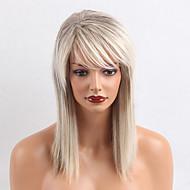 Ombre farger lange rette menneskelige hår parykker for kvinne