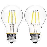 4W Izzószálas LED lámpák A60(A19) 6 COB 450 lm Meleg fehér Fehér Tompítható V 2 db.
