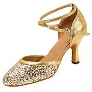 """מותאם אישית נשים מודרני סנדלים עקבים מקצועי אבזם נצנצים נוצצים עקב מותאם זהב כסף 2.5-4.5 ס""""מ 5 - 7 ס""""מ 7.5 - 9.5 ס""""מ 10 ס""""מ ומעלה"""