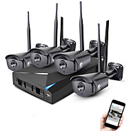 Jooan® 4ch 960p bezdrátový bezpečnostní kamerový systém nvr kit 4 * 1.3mp venkovní bezdrátová kamera s infračerveným zámkem