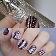1 Neglekunst klistremerke Folie Stripe Tape Sminke Kosmetikk Neglekunst Design