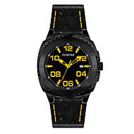 Men's Sport Watch Fashion Watch Chinese Quartz Leather Band Casual Black