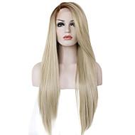 Vrouw Lang Strawberry Blonde / Bleach Blonde Haar Ombre haar Synthetisch haar Kanten VoorkantHalloween Pruik Carnaval Pruik Natuurlijke