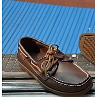 Férfi Vitorlás cipők Kényelmes Valódi bőr Tavasz Hétköznapi Kényelmes Barna Lapos