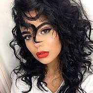 20 inch hullámos emberi haj csipke első paróka sötét fekete # 1 fekete # 1 b sötétbarna # 2 középbarna # 4 hullámos glueless csipke első
