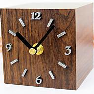 伝統風 オフィス ハウス型 学校/卒業 壁時計,長方形 メタル ウッド その他 屋内 クロック