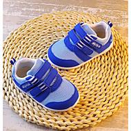 女の子 フラット 赤ちゃん用靴 チュール 春 秋 アウトドア カジュアル ウォーキング 面ファスナー ローヒール ベージュ ブルー スクリーンカラー フラット