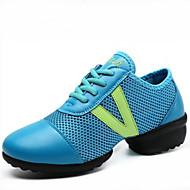Kişiselletirilmemiş Kadın Dans Sneakerları Sentetik Spor Ayakkabı Ayrık Taban Dış Mekan Düşük Topuk Beyaz Siyah Mavi 2,5 - 3,6 cm