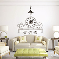 Moderne/Contemporain Nourriture et Boisson Personnages Inspiré Mariage Famille Amis Horloge murale,Nouveauté Plastique Autres