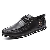 Masculino Oxfords Conforto botas de desleixo Sapatos de mergulho Couro Ecológico Primavera Outono Casual CaminhadaConforto botas de