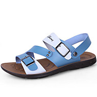 Men's Sandals Comfort Microfibre Leatherette Spring Casual Blue Red Yellow Flat