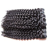 wholesale mongolian kinky curly virgin hair 5bundle 500g lot 100% unprocessed human hair material natural black hair color best quality from one donor
